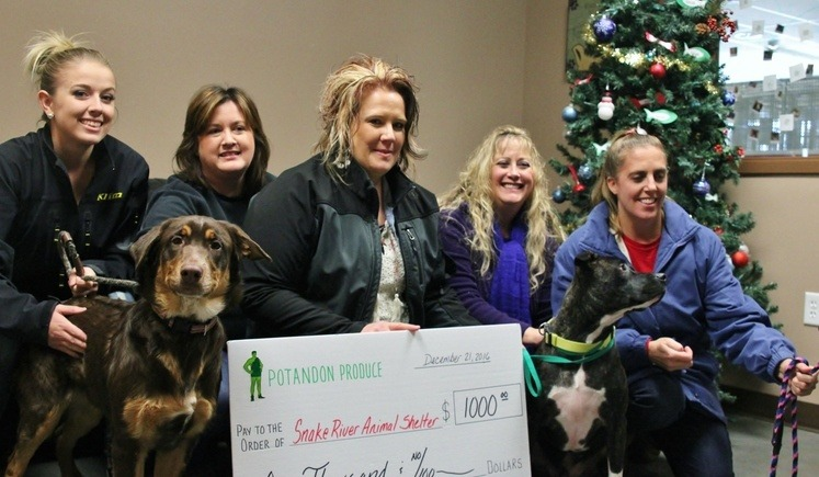 2016 Snake River Animal Shelter Donation.JPG